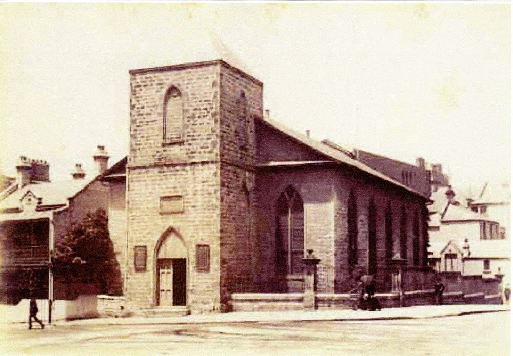 Scots Church, Church Hill,  Sydney NSW. Mary Anne Croaker and William Richard Tress Married Here 1832.