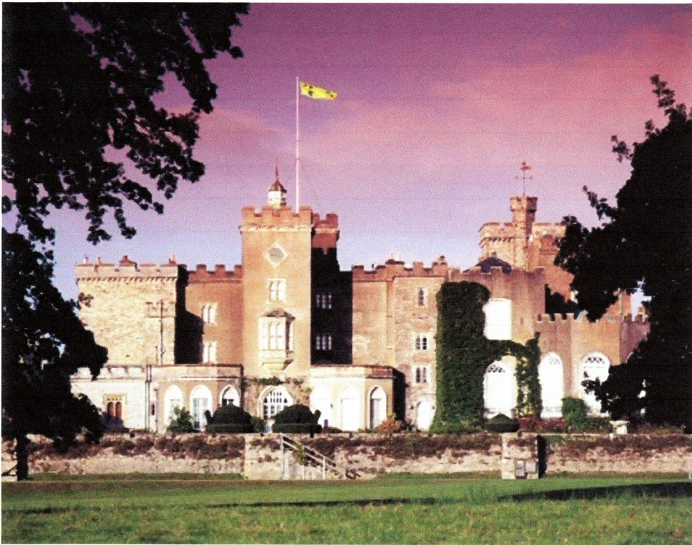 Powderham Castle, home of the Sir Philip Courtenay Family, Devon, England.