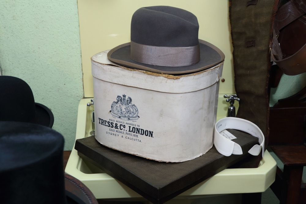 A Hat, Hat box etc from Tress and Company London pic Keith Taylor